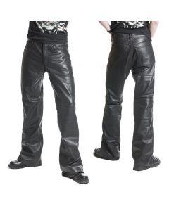 Schlaglederhose nappa Jeansschnitt Lederjeans