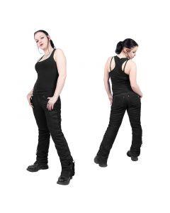 Lederhose Schnürjeans nubuck schwarz