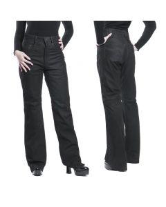 Schlaglederhose nubuck Jeansschnitt Lederjeans