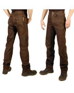 Lederhose nubuck Jeansschnitt Lederjeans